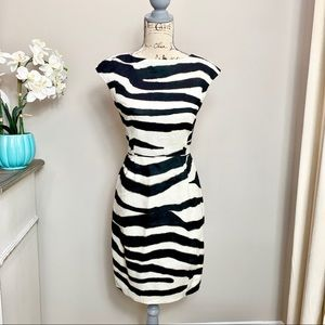 NWT Zebra 🦓 print Banana Republic linen dress